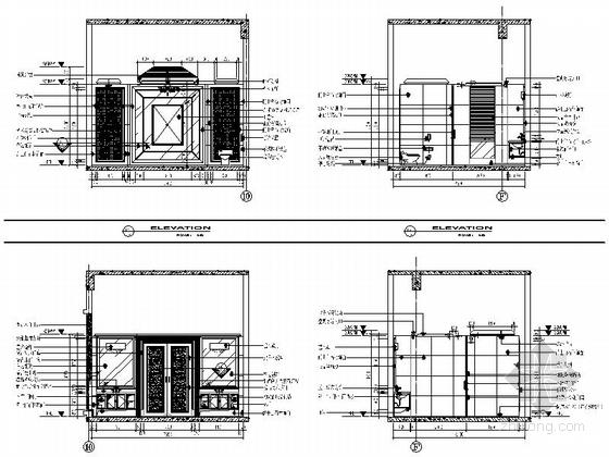 [苏州]奢华欧式风格商务会所四层卧室休息区室内装修图(含效果) 更衣室立面