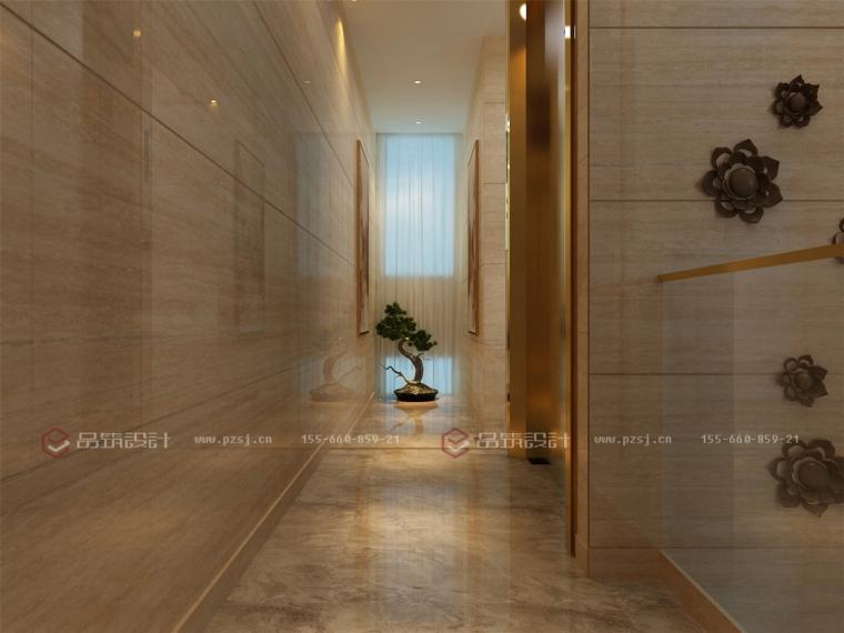 这样的沈阳私人办公会所设计效果图真是美呆了!-7楼梯间.jpg