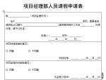 【B类表格】项目经理部人员请假申请表