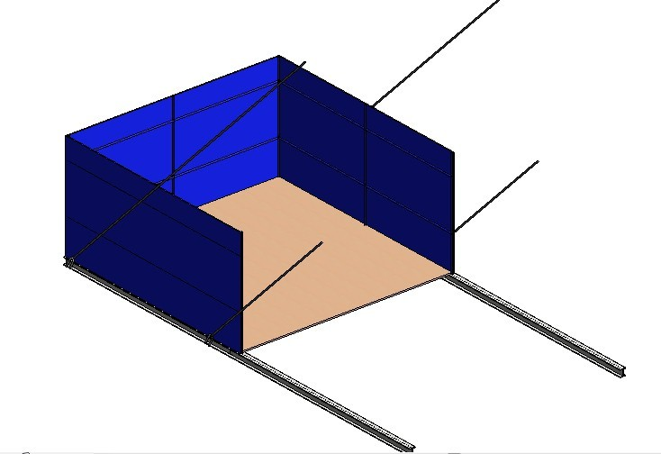 悬挑式卸料平台