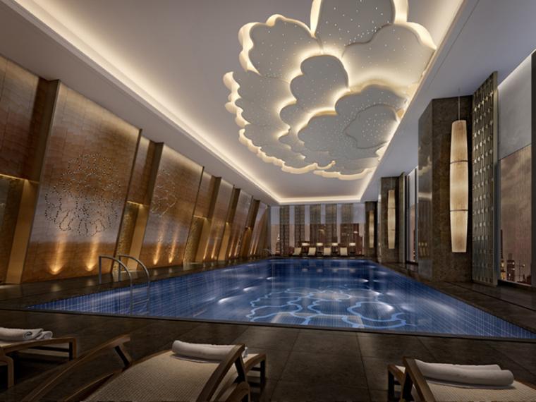 酒店泳池3D模型下载
