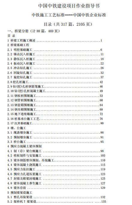 中国中铁建设项目作业指导书