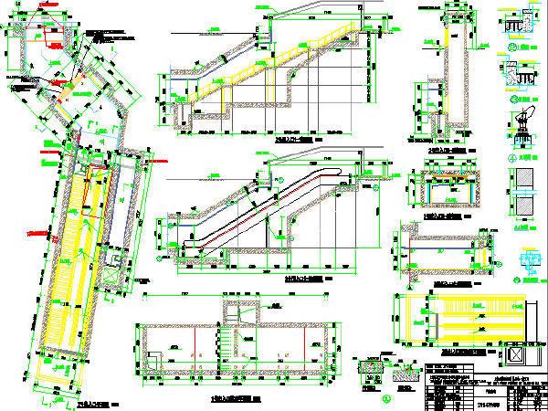2015年设计地下二层一岛一侧式站台三跨现浇箱型结构地铁车站设计图446张CAD