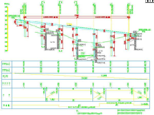 [重庆]3X20+3X20m钢筋混凝土单箱双室箱梁桥设计图48张CAD(附66页计算书)