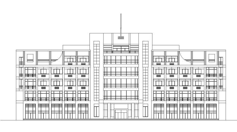 [浙江]五层外墙涂料对称式办公楼建筑施工图