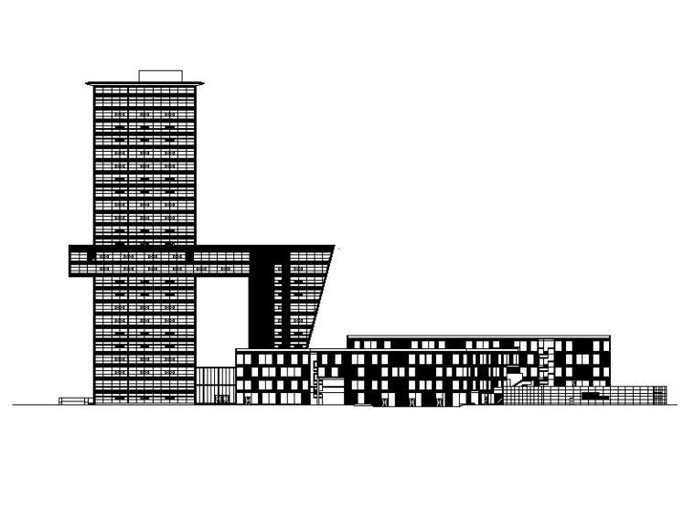 [上海]高层核心筒结构塔式办公综合体建筑施工图