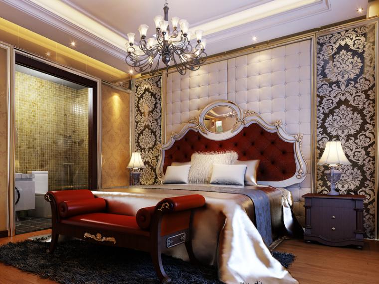 欧式雅致卧室3D模型下载