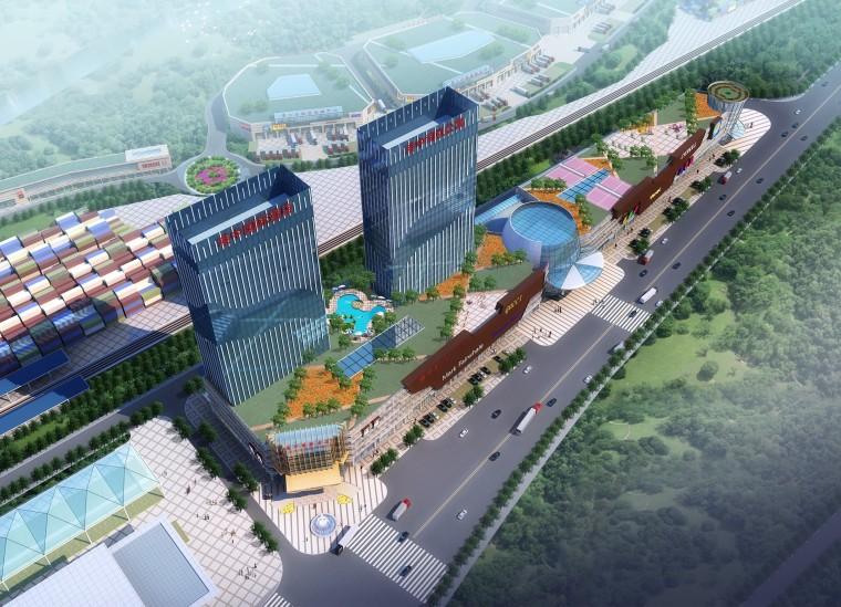 [四川]国际商贸中心城市综合体报建方案文本图(JPG)