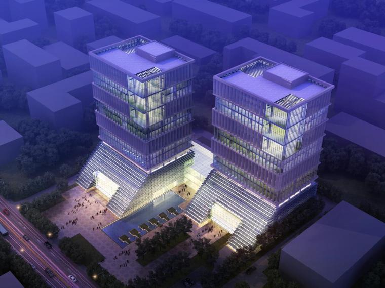 [中国]16层医药临床研究科研办公大楼塔楼建筑设计方案文本(JPG+40页)