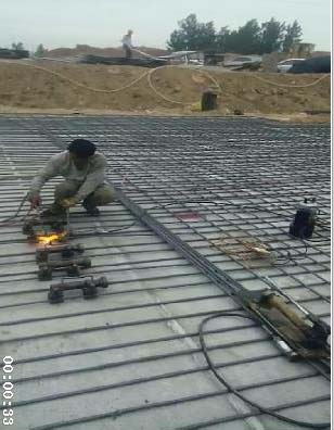 钢筋气压焊连接施工工艺图片