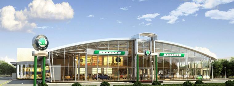 (原创)汽车4S店建筑外观设计案例效果图-4s店8