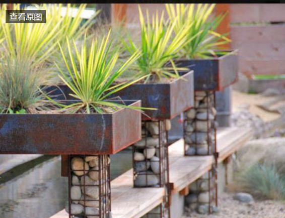 景观石笼|独特的植物容器_7