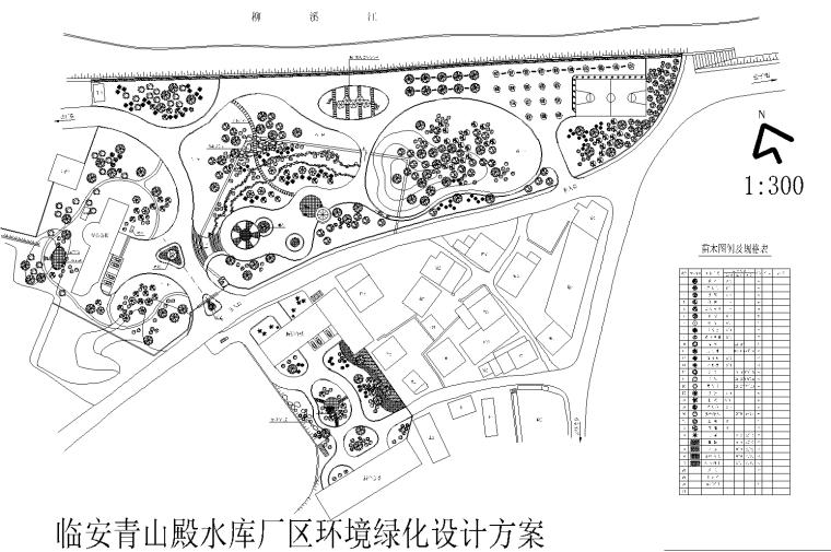 [浙江]临安青山殿水库环境全套CAD施工图(含效果图及设计说明)