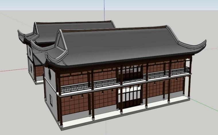 中国古建亭台楼阁塔SketchUp模型分享
