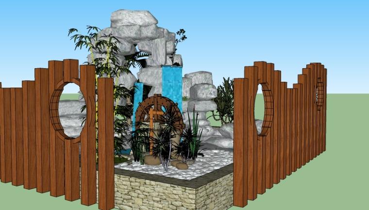 园林假山景石SU模型(179个)