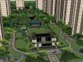 居住小区入口景观设计模型(现代新中式风格)