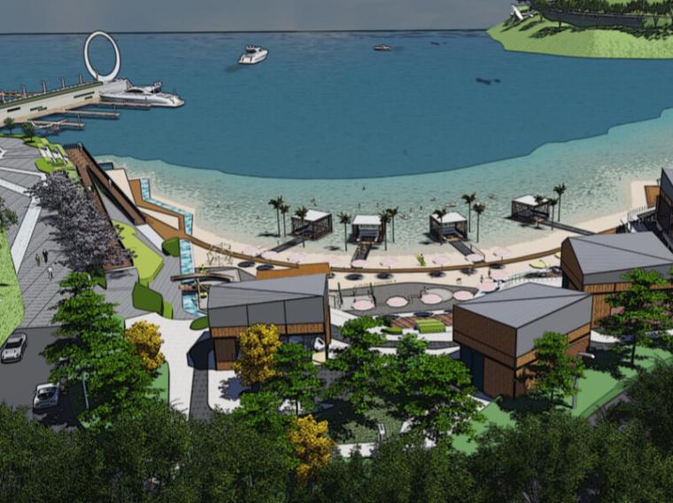[江苏]象山半边山景区半岛渔湾景观概念方案设计(玉主题,轻奢雅致)