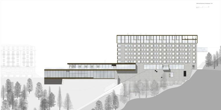 瑞士布尔根施托克酒店-Nordfassade
