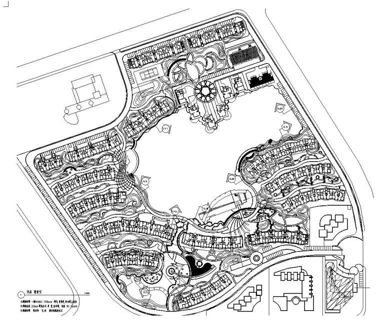 [天津]天津顺池蓝水园居住区全套景观施工图设计(包含CAD+51页)