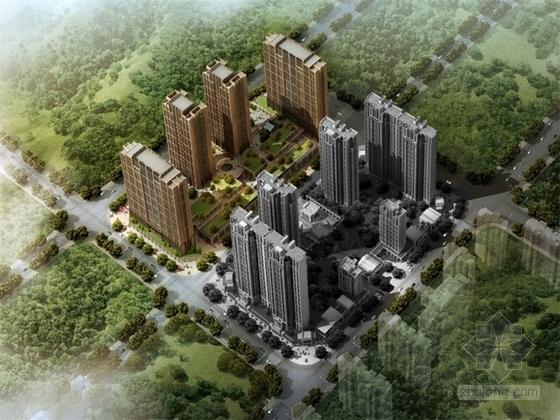 [合集]4套大型知名地产高层住宅区及别墅规划建筑设计方案文本