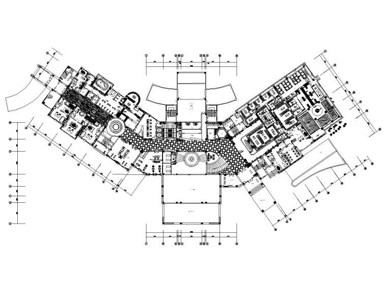 金螳螂设计——新中式风格高尔夫会所装修施工图(附方案效果图)