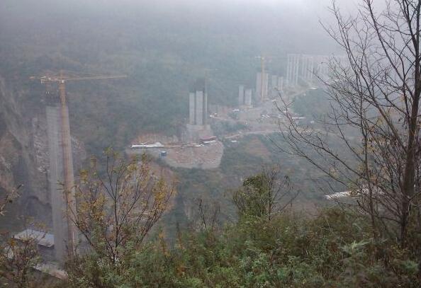 """""""亚洲第一高桥""""贵州赫章特大桥现场图片观摩"""