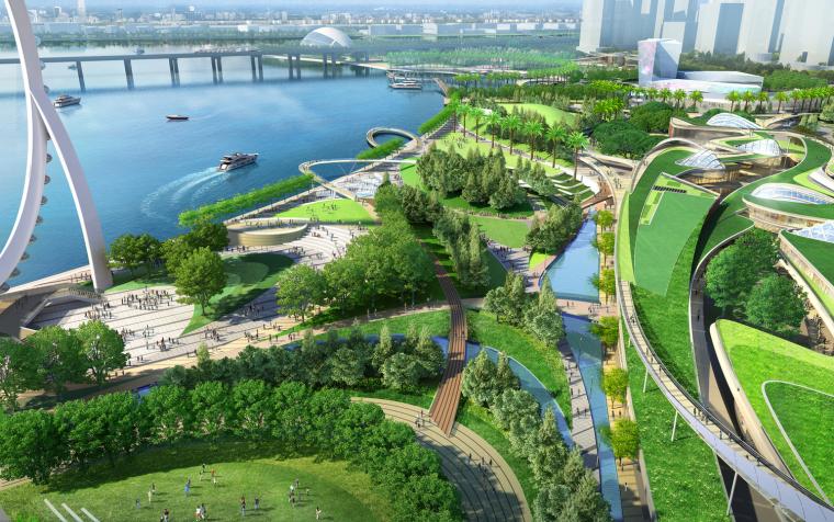 深圳宝安大型滨水景观