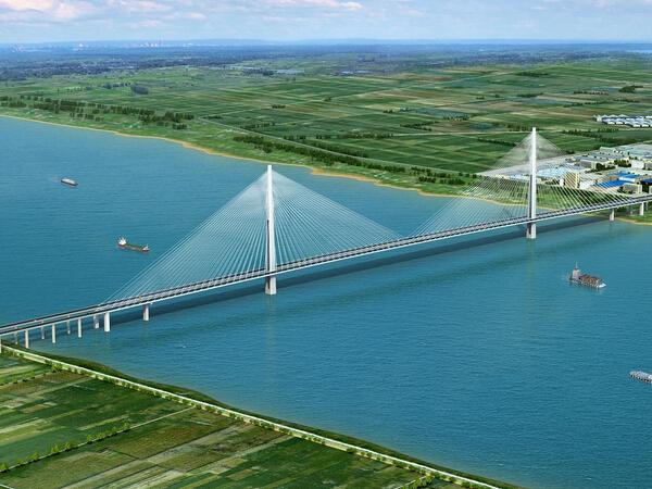 [安徽]五跨连续半漂浮体系钢箱梁斜拉桥长江大桥施工照片观摩(2788张)