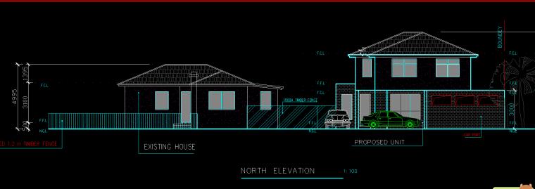 某欧式别墅建筑规划设计图