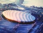 """2022年北京冬奥会竞赛场馆之一:""""冰丝带""""国家速滑馆"""