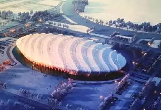 """2019建筑竞赛资料下载-2022年北京冬奥会竞赛场馆之一:""""冰丝带""""国家速滑馆"""