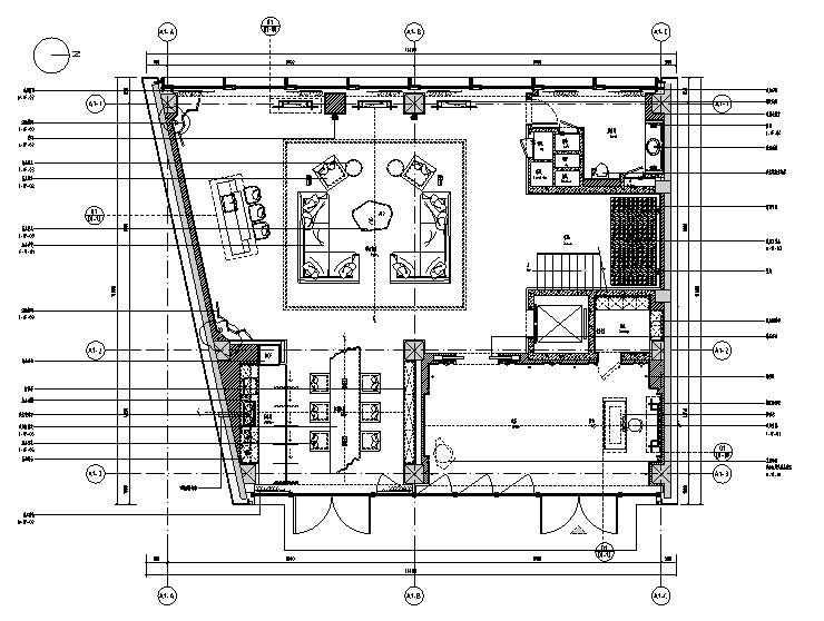 万科御河硅谷别墅样板房设计施工图(附效果图+物料表)