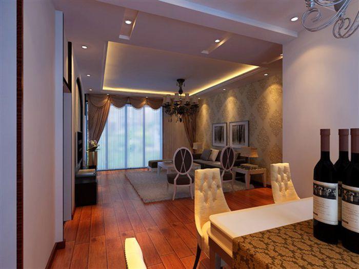 简欧风格|138平米三居室装修效果图|设计圈张毅设计师
