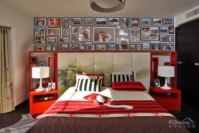 中式风格复式卧室效果图