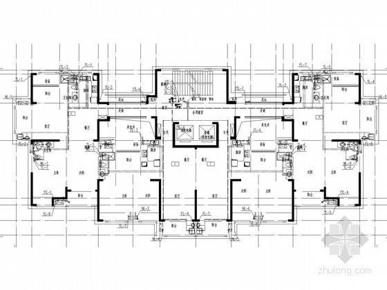 [安徽]一类30层住宅楼给排水消防施工图(喷淋系统 冷凝水)