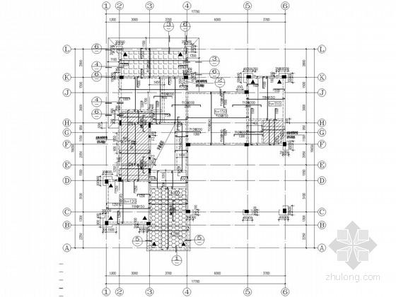 三层框架别墅结构施工图(坡屋顶)