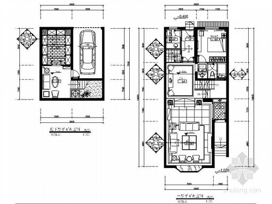 [江西]温馨现代风格四层别墅室内装修施工图(含效果)