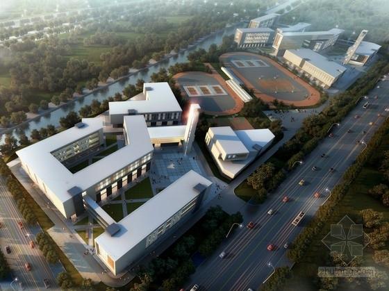 [上海]30班开敞外廊式市级重点小学校园规划设计方案文本