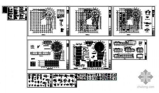 深圳某汽车展厅钢结构图纸