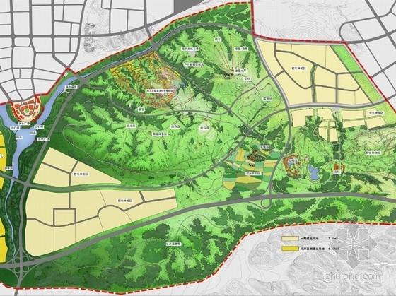 [内蒙古]鄂尔多斯森林公园景观规划设计方案(北京著名规划设计院)