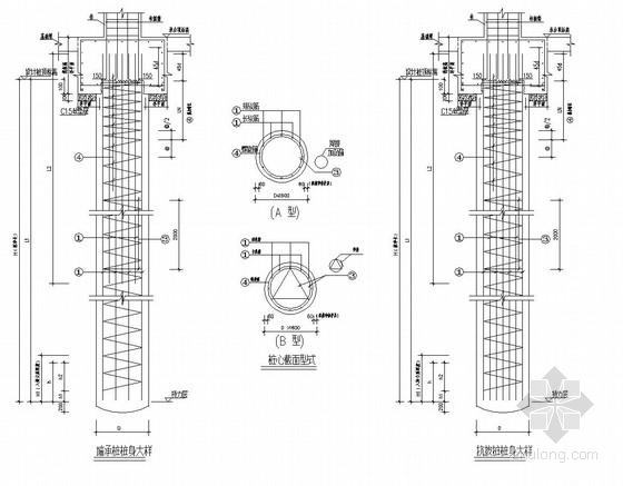 [广东]高层商住楼钻孔灌注桩基础施工图