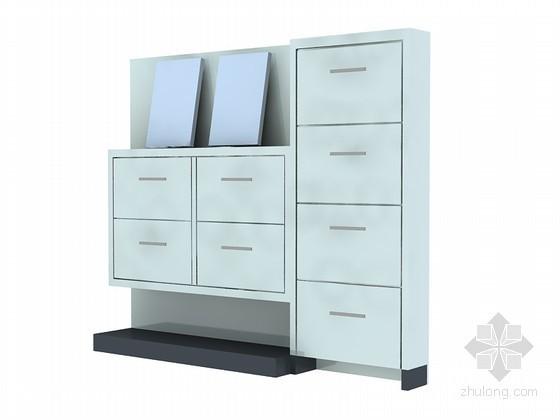 现代装饰柜3D模型下载