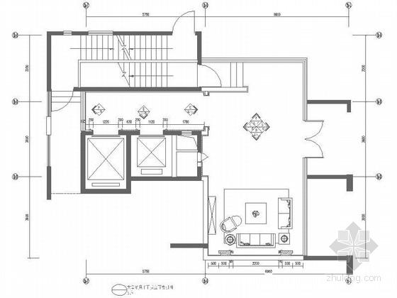 典雅简欧风格住宅入户大堂装修施工图(含效果)