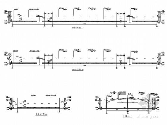 单层门式刚架结构原料库房结构施工图(含建筑图)