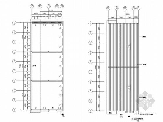[泉州]钢结构石业公司厂房扩建结构图