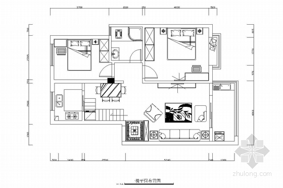 [江西]托斯卡纳花园小区田园风格三居室复式装修图(含效果图)