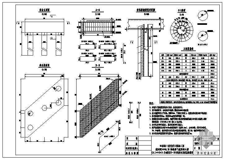 (14.1+4x18+14.1)m钢筋混凝土连续刚架桥成套cad设计图纸
