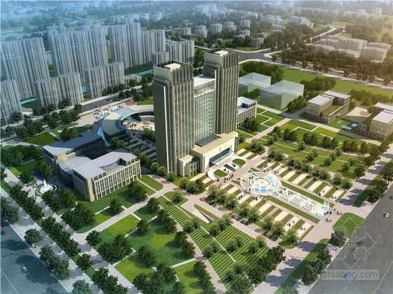 [安徽]现代风格办公中心规划与建筑设计方案文本(含CAD及SU)