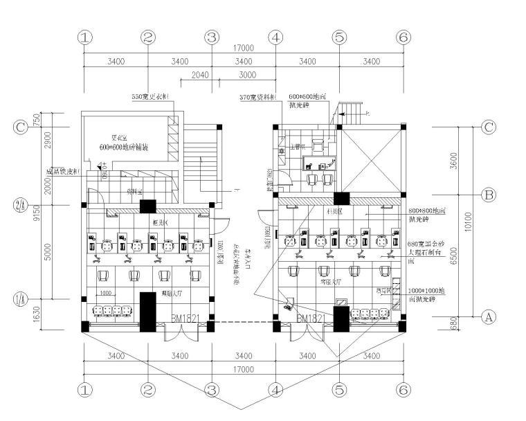 [浙江]现代风格-财产保险公司办公装修设计施工图