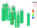 连体结构动力弹塑性分析报告-使用midas-building